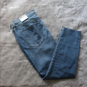 OLD NAVY WOMENS Curvy High Rise Raw edge Jeans